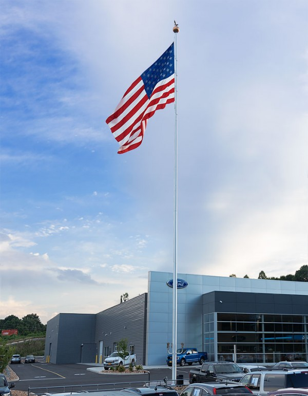 Tall 100 ft flagpole