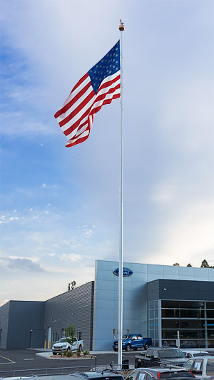 APEX Series 100 Ft.tall Aluminum Flagpole