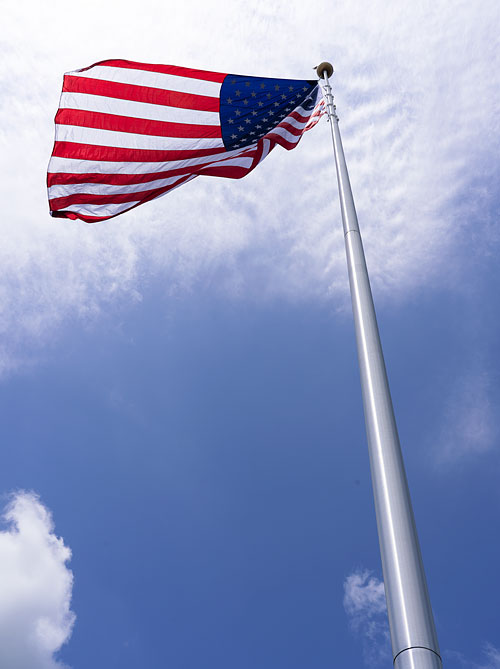 Tall 100 ft flag pole